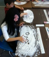 Word Study is even more fun with shaving cream!
