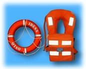 Life buoy and Life jacket