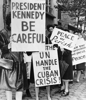 Protesting against a nuclear war