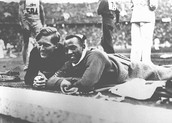 Jesse Owens (American) and Lutz Long (German)