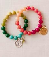 Stella & Dot foundation bracelets (coral color available)