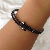 SOLD Radiance Coil Bracelet - Black