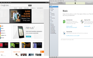 Google Play and Apple iTunes computer