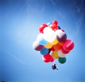 Helium in a balloon