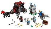A Lego Castle set with axes and a sword