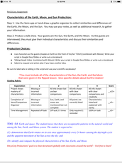 Expectations and Rubric Sample