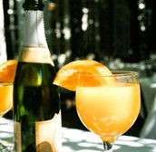 Enjoy a mimosa while celebrating your day.