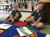 Pattern making with colored squares