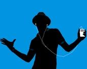 Someone listening to music