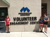 Troop 1297 at Met Min's Volunteer Center