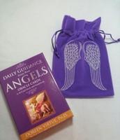 Daily Guidance Angels Deck & Velvet Angel Wings Tarot bag