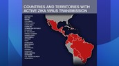 How many country's has the zika reached.