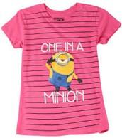 A Pink Coloured One In A Minion Tshirt