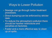 pollution from sewage
