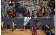 Esta es una pintura de Inti Raymi en Peru.