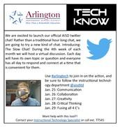 Upcoming #arlingtech Twitter Chat