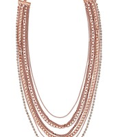 Ginger Layerying Necklace Rose Gold $44.50