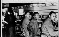 blacks sittig in the sit in at the counter