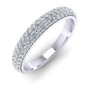 Trio Diamond Ring in White Gold