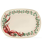 Lennox Holiday Ribbon Oblong Platter