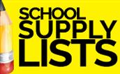 School Supplies List from Home