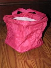 Littles Carry-All Caddy - Pink Circles Spirals