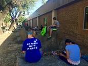 Brainstorming in the outdoor classroom!