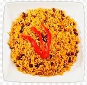 El arroz y frijoles