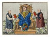 Roman secular authority declined, church authority grew.