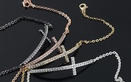 Cross Bracelets with Rhinestones