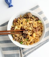 Pork fried turnip rice.