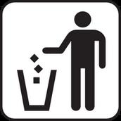 Tirar la basura en los cestos