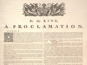 What was the Proclamation of 1763?