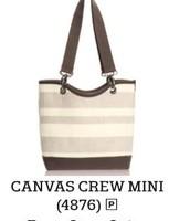 Canvas Crew Mini In Taupe Straw Stripe