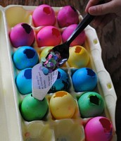 We will dye them in class and add confetti!