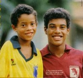 Ronaldinho as a child with his brother