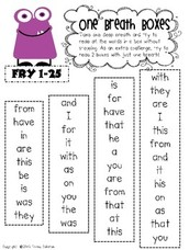Reading Fluency Pieces and Classroom Books