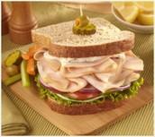 Un sandwich au dinde