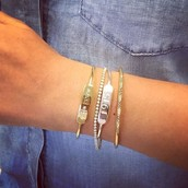 ENGRAVABLE BAR BRACELET $98