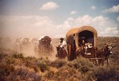 Wagons traveling