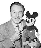 Walt with a stuffed Micky