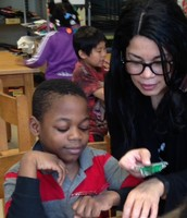 Mrs. Torres and One Scholar Practice Observation Skills
