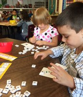 Kindergartens practicing phonics