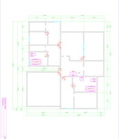 AutoCAD home w/ dimensions
