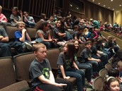 Waiting for James and the Giant Peach!