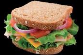 Wheat and veggies sandwich