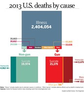 Guns cause too many deaths in America