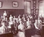 Classroom full of students.