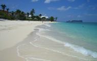 the beautiful beach of cayman island