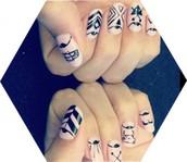 ancient inspired nail art